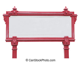 wood frame - Red Wood frame isolated on white background