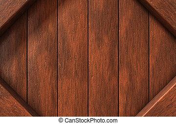 Wood frame - Natural brown wood frame background