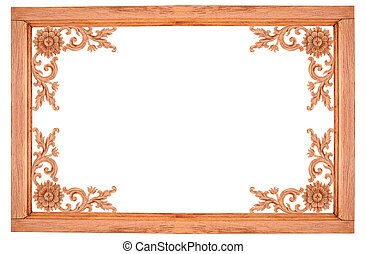 wood frame on white background.