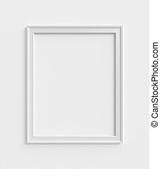 wood frame on a white wall