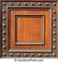 wood frame - old ornate wood frame