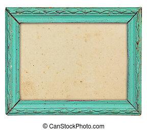 wood frame - Pattern of wood frame carve on white background