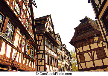 Wood-frame traditional house in Strasbourg, France
