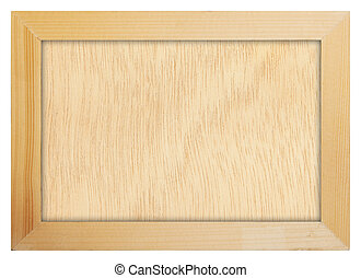 wood frame - Wood frame isolated on white background