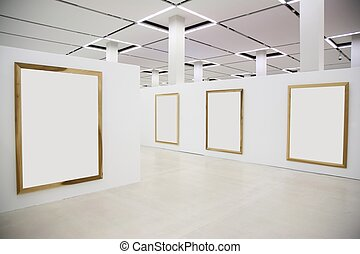 wood frames on the white wall