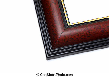 Wood frames on white background