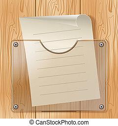Wood glass paper