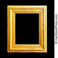 Wood gold frame