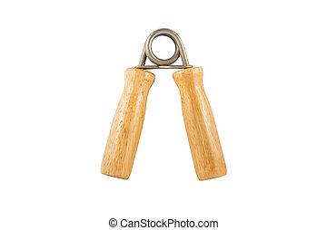 Wood hand grip