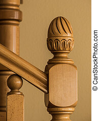 The end of the handrail