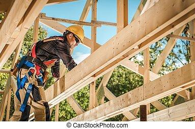 Wood House Frame Construction