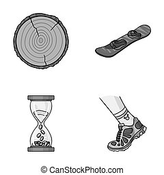 wood industry, finance and other monochrome icon in cartoon style.running, sport icons in set collection.