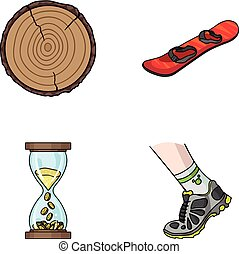wood industry, finance and other web icon in cartoon style.running, sport icons in set collection.