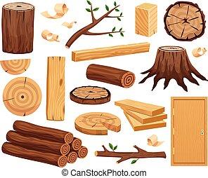 Wood Industry Flat Set