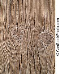 Knots in a wooden board
