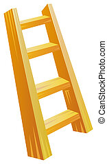 Wood ladder - A wood ladder isolate in a white background