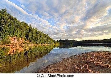 Wood lake near Vitebsk, Belarus