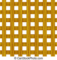 Wood Lattice - Wood Lattice Background Pattern in Brown Cane...