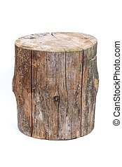 log isolated on a white background