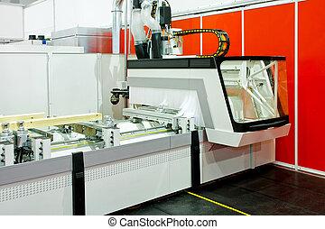 Wood machinery - Modern automatic wood cutting machine in ...