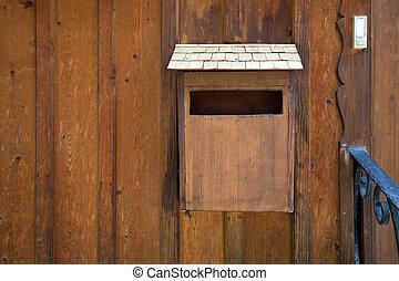 Wood maibox on Hallstatt village