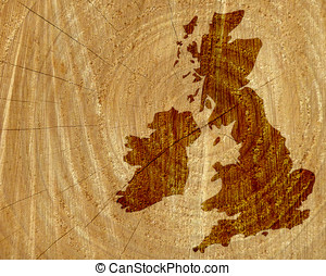 Wood map of UK and Ireland