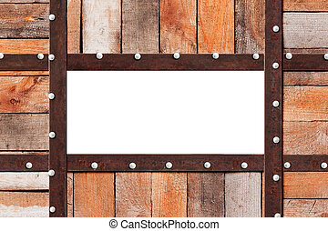 Wood metal frame