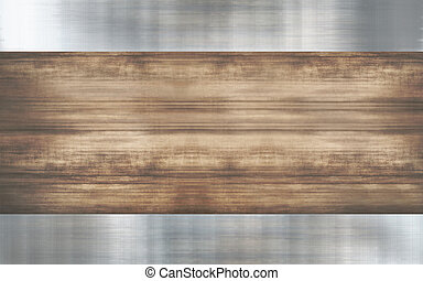 wood metallic background design