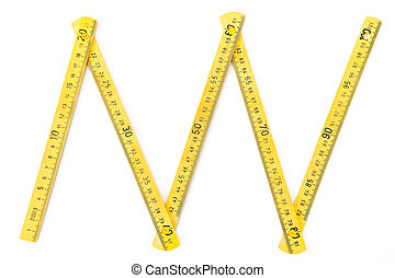 Wood meter on the white background