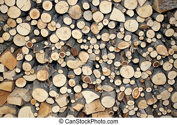 wood of a Woodshed for ecological heating