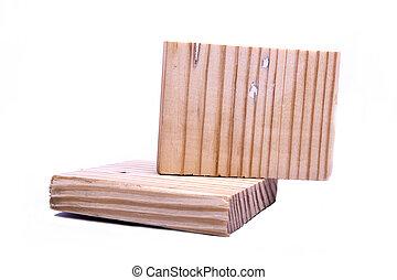 wood on white background