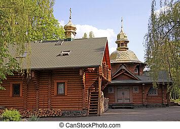 Wood orthodox church in Kiev