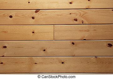wood paneling - varnished knotty wood plank paneling...