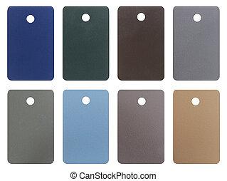 Wood pastel tone tag isolated on white background