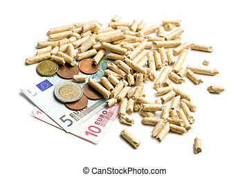 wood pellets as ecological and economical heating