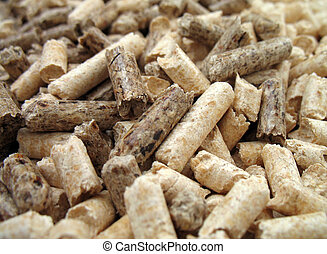 wood pellets close-up - wood pellets for fireplaces and...