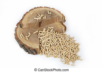 Wood pellets for fireplaces and stoves