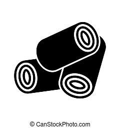 Wood Pellets icon.vector illustration.
