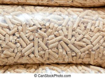 Wood pellets - Plastic bags of wood pellets