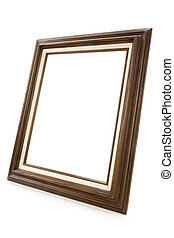 Picture Frame - Wood Picture Frame with white background