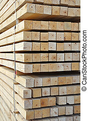 Wood piling up