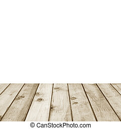 Wood plank brown perspective on white background