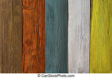 wood plank colored texture background, painted wooden floor