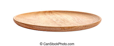 wood plate on a white background