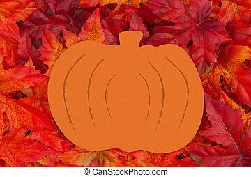 Wood pumpkin for the fall season