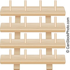 Wood Rack for Spools of Thread