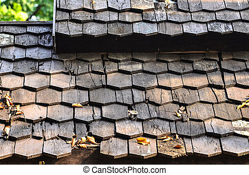 Wood roofing pattern detail