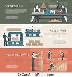 Wood Roughing Horizontal Banners