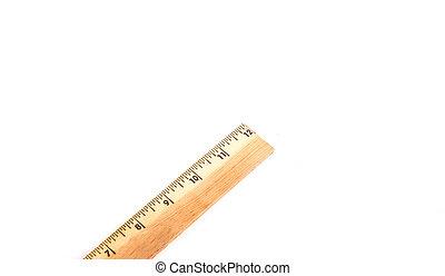 Wood Ruler Isolated on White