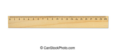 Wood ruler isolated on white
